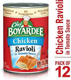 Chef Boyardee Chicken Ravioli Pasta in Tomato Sauce, 15 Oz. (Pack of 12)