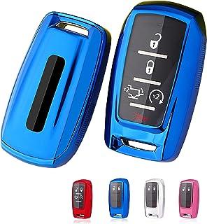 BINOWEN for Dodge Key Fob Cover, TPU Key Fob Shell Protector Shell Keyless Remote Control Smart Key Holder Fit for Dodge R...
