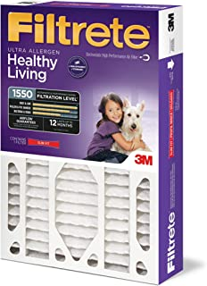Filtrete 20x25x4, AC Furnace Air Filter, MPR 1550 DP, Healthy Living Ultra Allergen Deep Pleat, 4-Pack (Renewed)