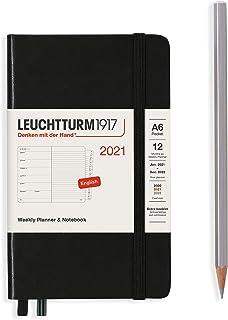 ロイヒトトゥルム 手帳 2021年 1月始まり A6 ウィークリー ブラック 361859