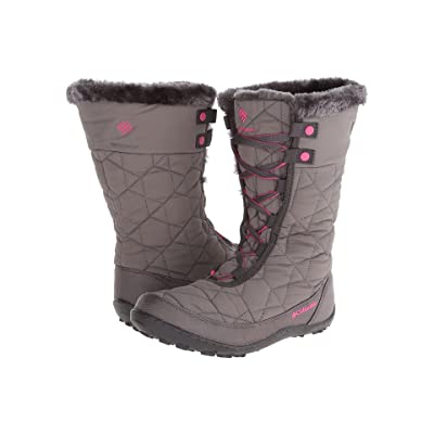 Columbia Kids Minxtm Mid II Omni-Heattm Waterproof (Little Kid/Big Kid) (Shale/Glamour) Girls Shoes
