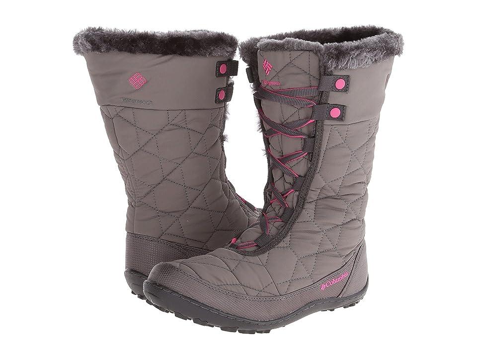 Columbia Kids Minxtm Mid II Omni-Heattm Waterproof (Little Kid/Big Kid) (Shale/Glamour) Girls Shoes