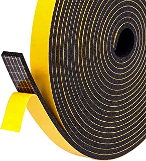 Foam Weather Stripping Tape for Windows Insulation and Seal, 1/2