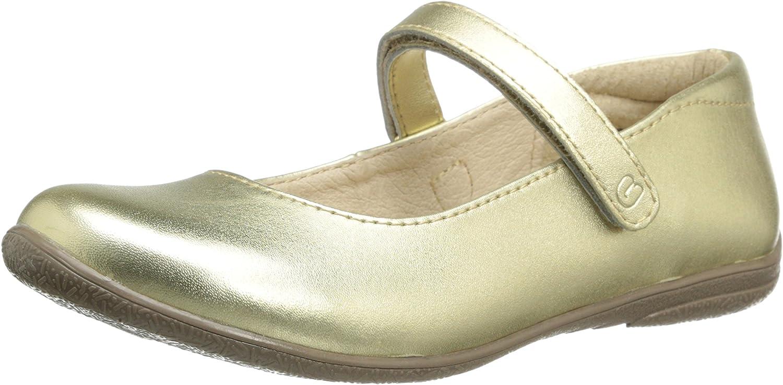 umi Ria II Uniform Mary Jane (Little Kid/Big Kid),Gold,35