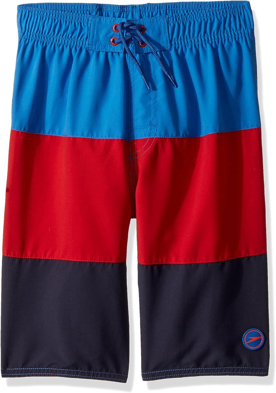 Speedo Boys Swim Trunk Knee Length Blocked Volley-Discontinued