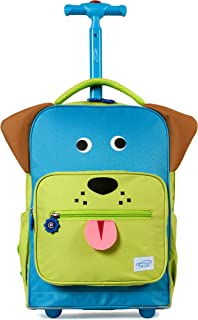 TWISE Side-Kick Travel Rolling Backpack for Kids and Toddlers (PUP)