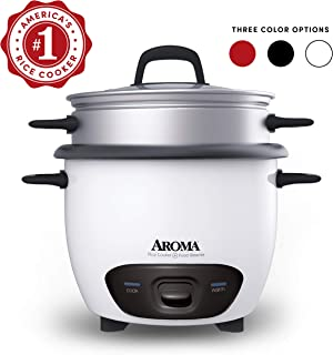 Aroma Housewares 6-Cup (Cooked)  (3-Cup UNCOOKED) Pot Style Rice Cooker and Food Steamer..