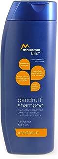 Mountain Falls Advanced Solution Dandruff & Seborrheic Dermatitis Shampoo with Selenium Sulfide, Maximum Strength to Prevent Flakes, 14.2 Fluid Ounce