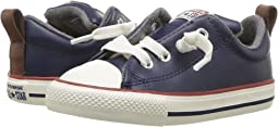 Converse Kids - Chuck Taylor All Star Street Leather and Fleece Slip (Infant/Toddler)