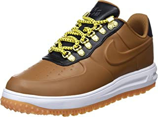 newest e0f5b c9bdb Nike Lunar Force 1 Chaussures Homme Duckboot Low Brown en Cuir Marron  AA1125-200