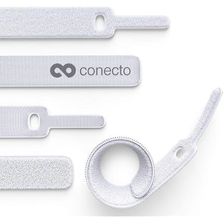 Conecto Klett Kabelbinder 15cm Klettband Mit Loop Elektronik
