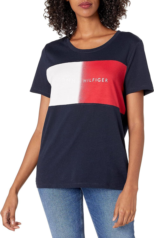 Tommy Hilfiger Women's Short Sleeve Crew Neck Logo T-Shirt