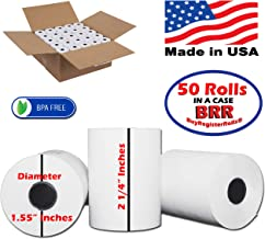 2 1/4 x 85 Thermal Paper (50 Rolls) Extra Large roll for Clover Mini,Verifone VX510 VX570 VX610 VX810 VX820 BPA Free Made in USA from BuyRegisterRolls