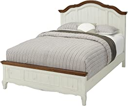 The French Countryside Oak/Rubbed White Queen Bed by Home Styles