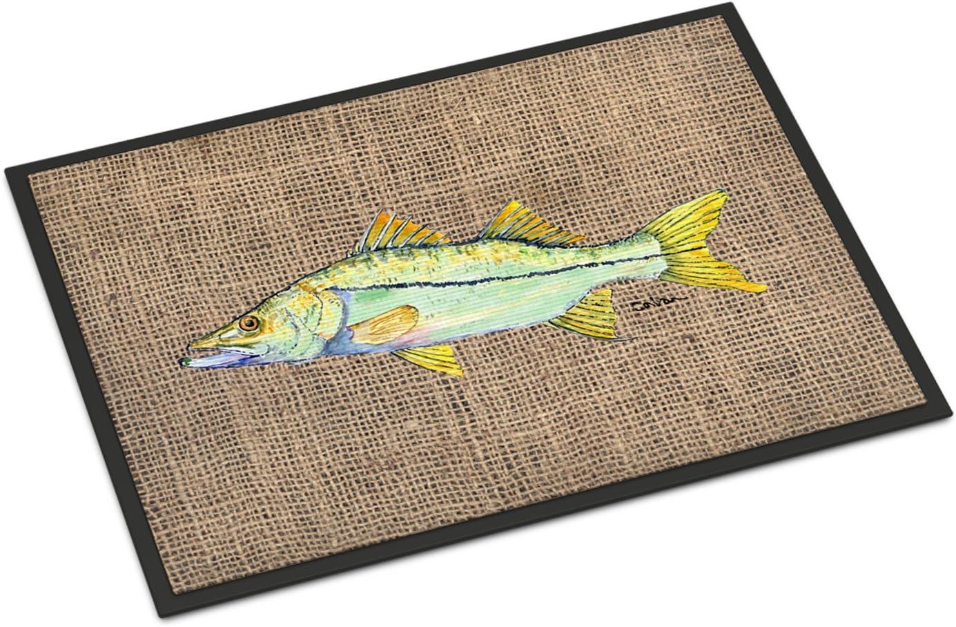 Caroline's Treasures 8772JMAT Fish Long Beach Mall - Snook Mat Outdoor or Indoor OFFicial site