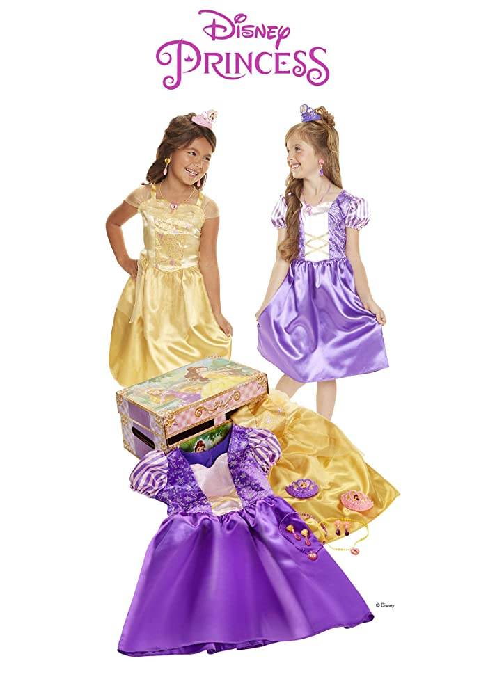 Disney Princess Belle & Rapunzel Dress Up Trunk