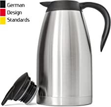 New 68 Oz (2 Liter) German-Designed Thermal Coffee Carafe   Stainless Steel Insulated..