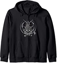 Demon Satanic Goat Baphomet Pentagram Gothic Funny Halloween Zip Hoodie