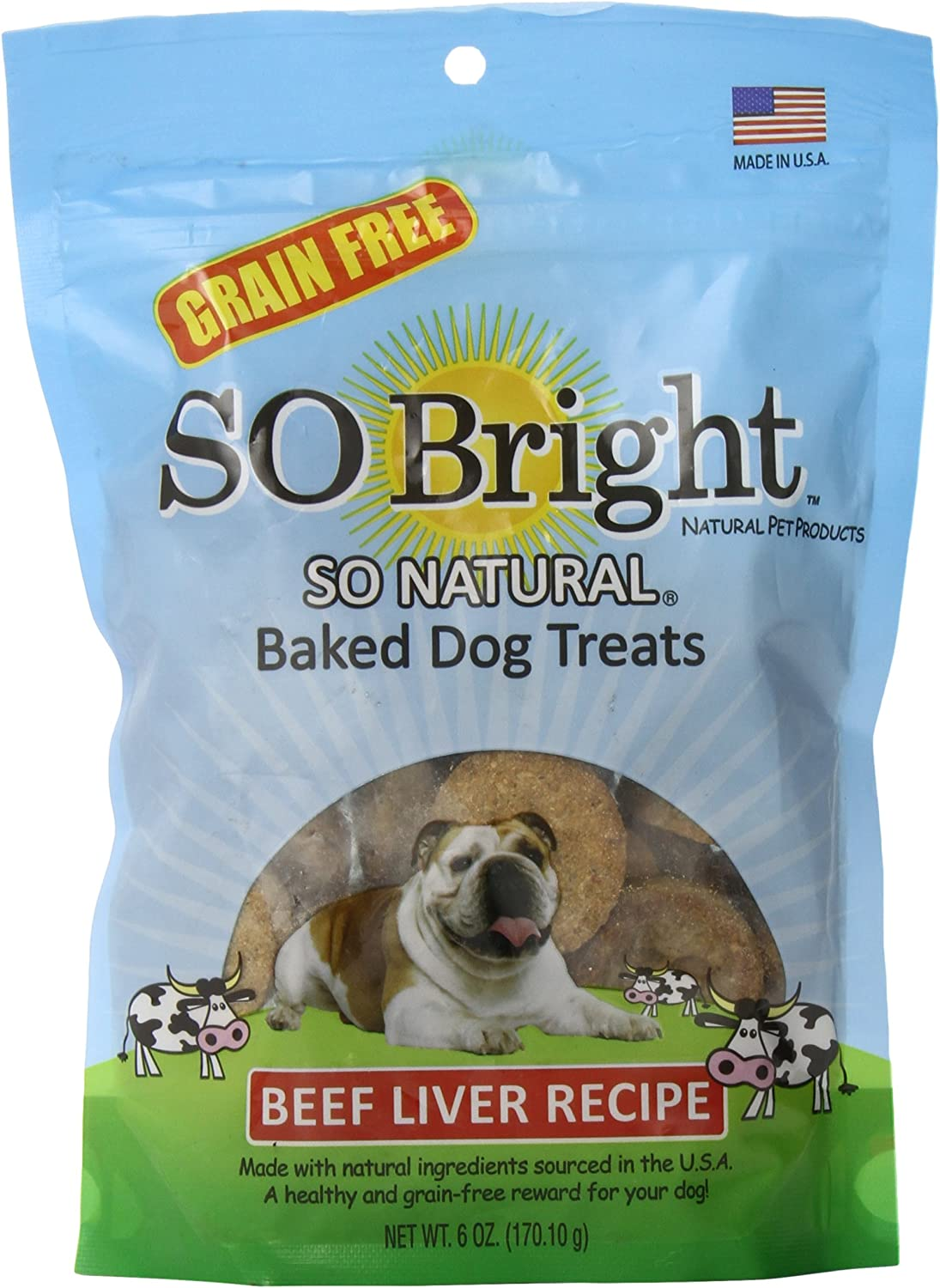 Max 60% OFF So Bright Grain Free Baked Treats Attention brand Recipe Liver Beef