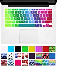 DHZ Rainbow Macbook Keyboard Cover Soft Silicone Skin for 2015 or Older Model MacBook Pro 13 15 17