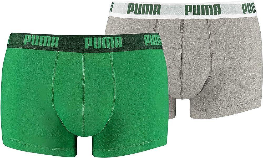 Puma basic 2 paia di boxer mutandine da uomo 95% cotone 5% elastan 521025001