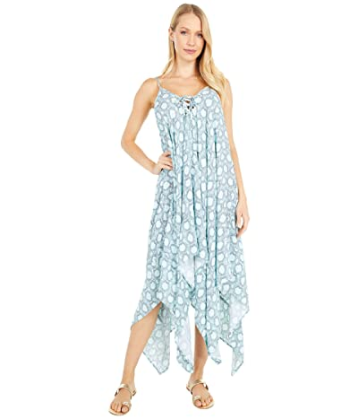 Jessica Simpson Snake Eyes Lace Front Cover-Up (Mist) Women