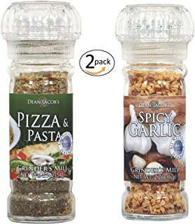 Gourmet Spicy Italian Seasoning Grinders: Pizza Pasta and Spicy Garlic - 2 pack