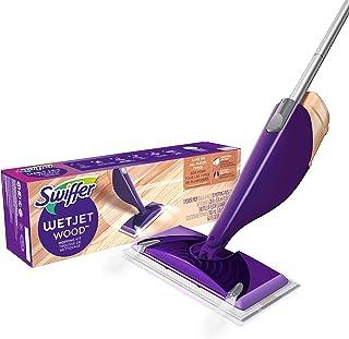 Swiffer Wetjet multifunctionele reinigingsset voor houten vloeren, 1 dweilmop, 10 tabs, reinigingsoplossing