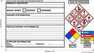 New GHS Chemical Label OSHA Label Safety Sign Decal 7.5