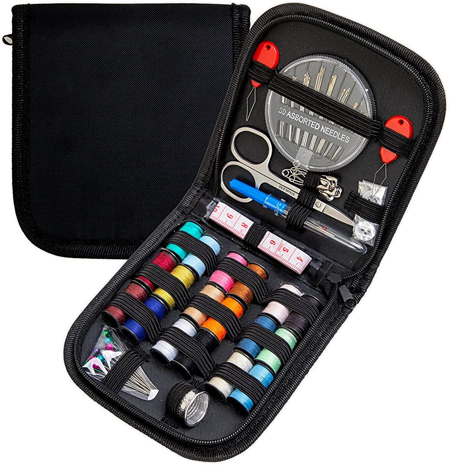 Sewing Kit, Portable Mini Sewing Kit, DIY Premium Sewing Supplies, Suitable for Adults,Beginners, Traveling and Emergency situations, Equipped with Sewing Needles, Thread, etc.