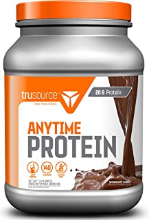 trusource 20 Servings Anytime Protein with Whey Concentrate, Chocolate, 1.5 Pound