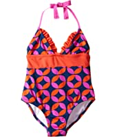 Hatley Kids - Graphic Lifesavers One-Piece Swimsuit (Toddler/Little Kids/Big Kids)