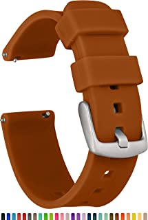 GadgetWraps 20mm Gizmo Watch Silicone Watch Band Strap with Quick Release Pins – Compatible with Gizmo Watch, Amazfit, Samsung, Pebble – 20mm Quick Release Watch Band (Light Brown, 20mm)