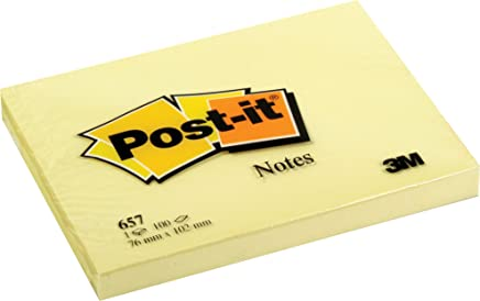 Post-it notes - Canary Yellow notes 657-76 x 102 mm