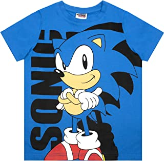 Sonic The Hedgehog T-Shirt Boy's Blue Character Supersonic Cartoon Kids Top