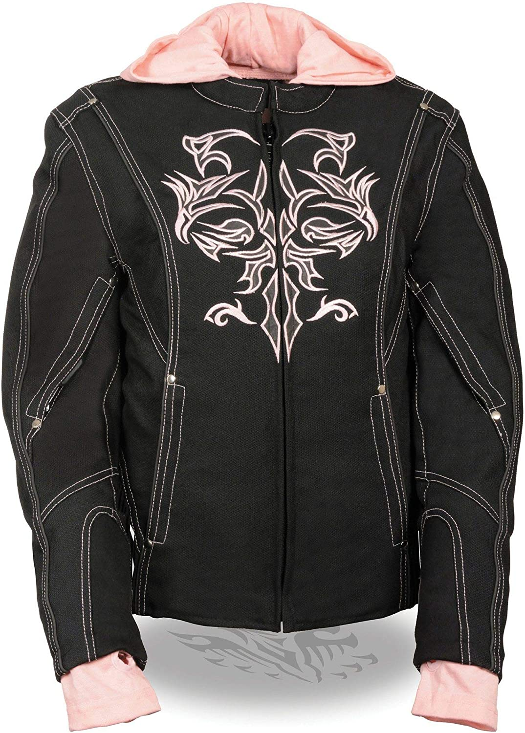 NexGen SH1966 Don't miss the campaign Ladies Black and Pink T with 3 4 Reflective Clearance SALE Limited time Jacket