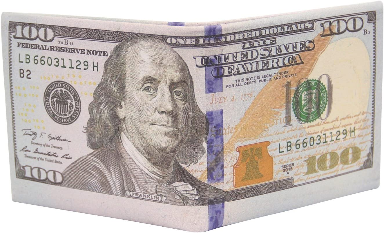 Cai Men Us Dollar Bill Wallet Billfold Topics on TV Photo Card Leather 40% OFF Cheap Sale Credit