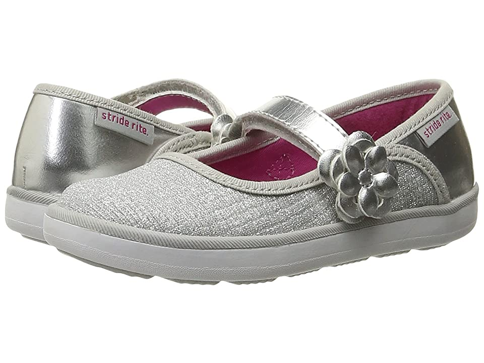 Stride Rite Marleigh (Toddler/Little Kid) (Silver Textile) Girl