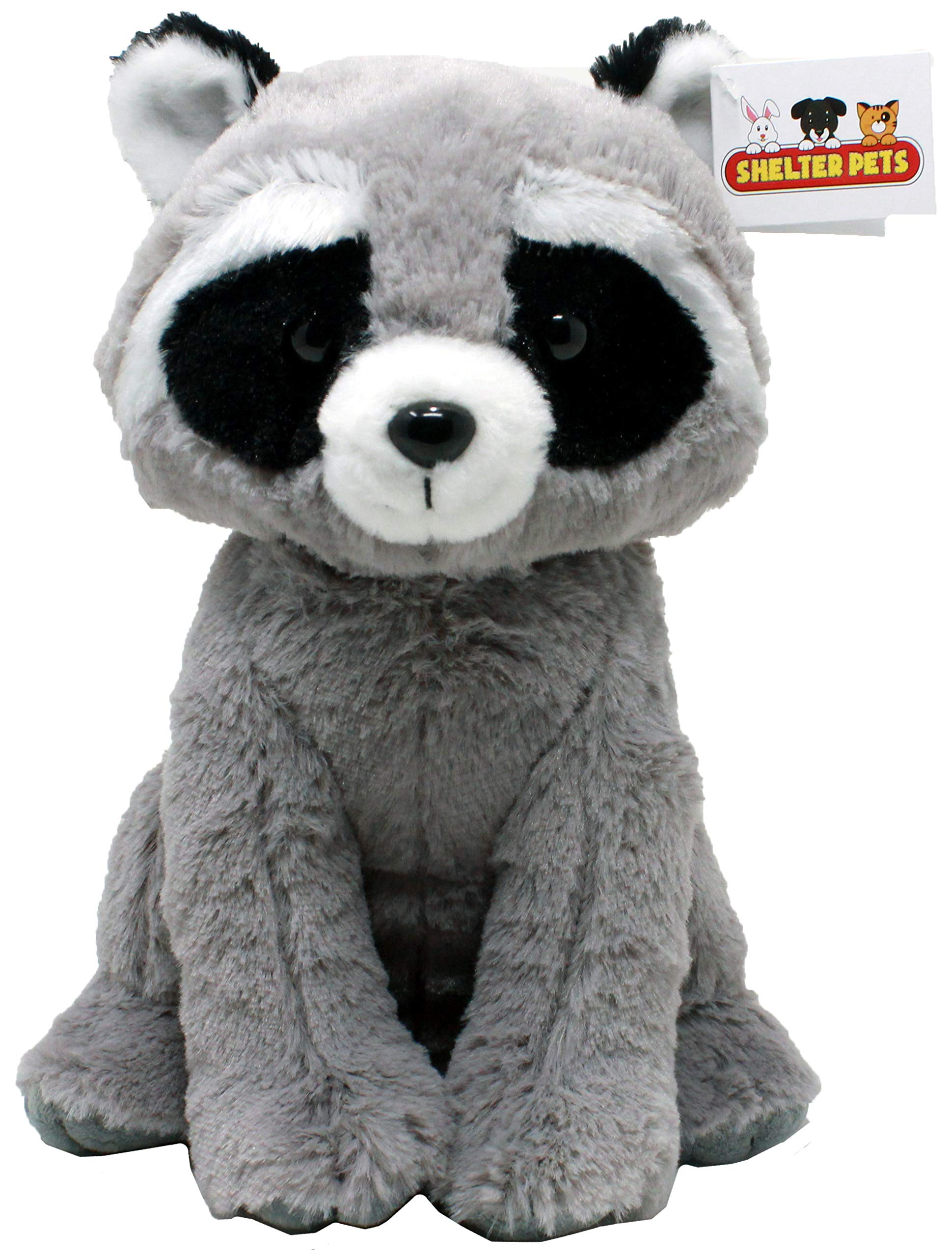 """Shelter Pets: Stella the Raccoon - 10"""" Raccoons Plush Toy Stuffed Animals - Based on Real-Life Adopted Pets - Benefiting the Puppy and Dogs Animal Shelters They Were Adopted From- Trash Panda Plushies"""