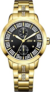 JBW Luxury Women's Lumen 6 Diamonds & 140 Swarovski Crystals Radiant Watch - J6341D