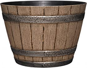Whiskey Barrel Planter, Distressed Oak, 9