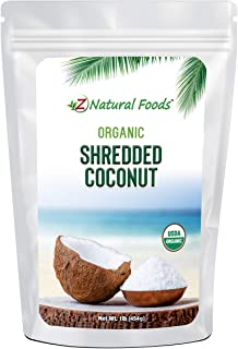 Organic Shredded Coconut - Unsweetened Macaroon Cut - Finely Cut Dried Flakes For Baking, Snacks, & Recipes - Raw, Vegan, ...