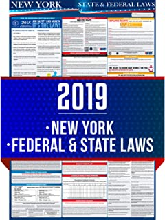 2019 (New) New York State and Federal Labor Laws Poster - OSHA Workplace Compliant 24