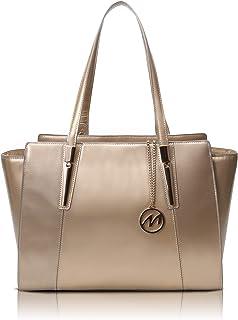 McKlein, M Series, Aldora, Top Grain Cowhide Leather, Leather Ladies' Tote with Tablet Pocket, Gold (97500)