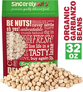 Sincerely Nuts Organic Garbanzo Beans - Great Snack or Side Dish Alternative - Vegan, Kosher & Gluten-Free - Plant-Based Protein - Chickpeas (2 LB)