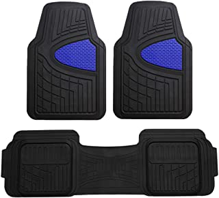 FH Group Blue F11511BLUE Heavy Duty Tall Channel Floor Mats All-Weather Accessories for Trucks, Cars, and Automotive Purpo...