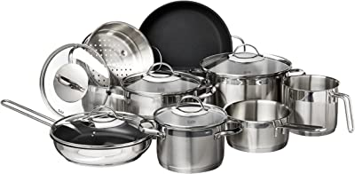 Silit by WMF Achat 14 Piece Cookware Set, Large, Silver