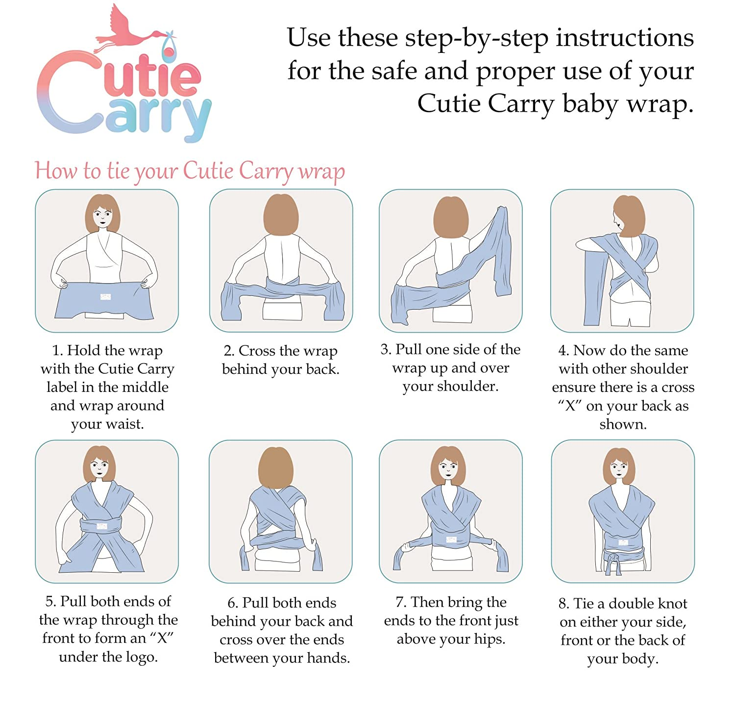 Baby Wrap Carrier by Cutie Carry Chest Sling Items for Newborn Child and Infant Ergo Papoose Hands Free Breastfeeding Carrying Wraps Dark Grey Heather