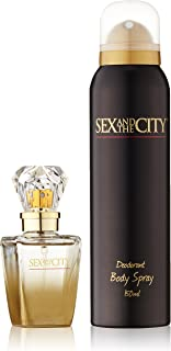 Sex In The City Gift Set for Women (Eau de Parfum Spray, Deodorant Body Spray)