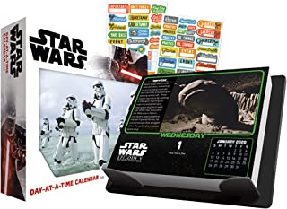 Star Wars 2020 Calendar, Box Edition Set - Deluxe 2020 Star Wars Day-at-a-Time Box Calendar with Over 100 Calendar Stickers (Star Wars Gifts, Office Supplies)